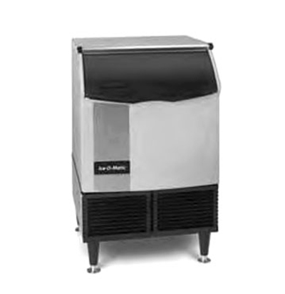 Ice-O-Matic ICEU150HW Half Cube Undercounter Ice Maker - 185-lb/24-hr, 73-lb Bin, Water-Cool 115v