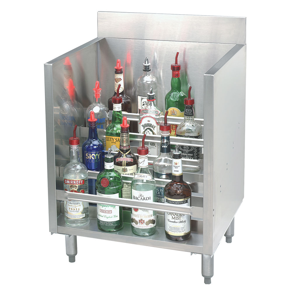 Supreme Metal CRLR24 24-in Tiered Display Rack w/ (5) 5-Bottle Steps, Stainless