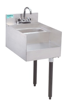 Supreme Metal SL-RS-15 Slimline Underbar Add-On Unit, 15 in Blender Station with Dump Sink