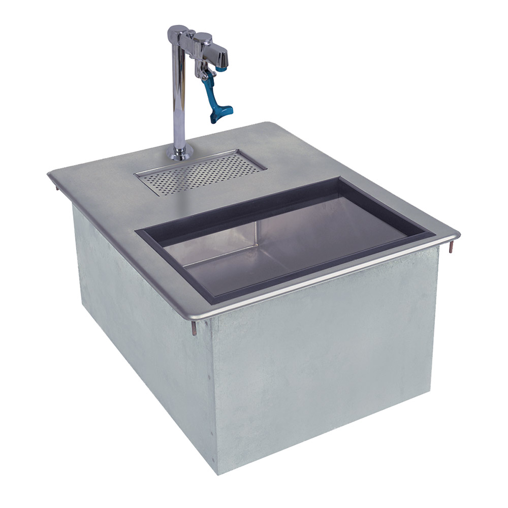 Supreme Metal D24WSIBL2 50-lb Insulated Drop-In Ice & Water Unit w/ 1-in Drain, Drip Pan