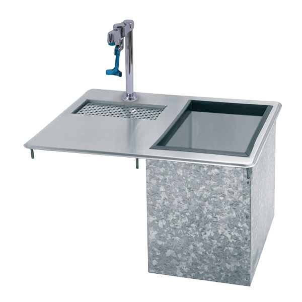 Supreme Metal D-24-WSIBL Bar King Ice & Water Unit, Drop-In, 23 lb Ice Capacity