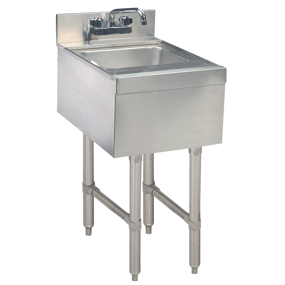 Supreme Metal SL-HS-15 15-in Underbar Add-On Hand Sink, 18-in Front to Back