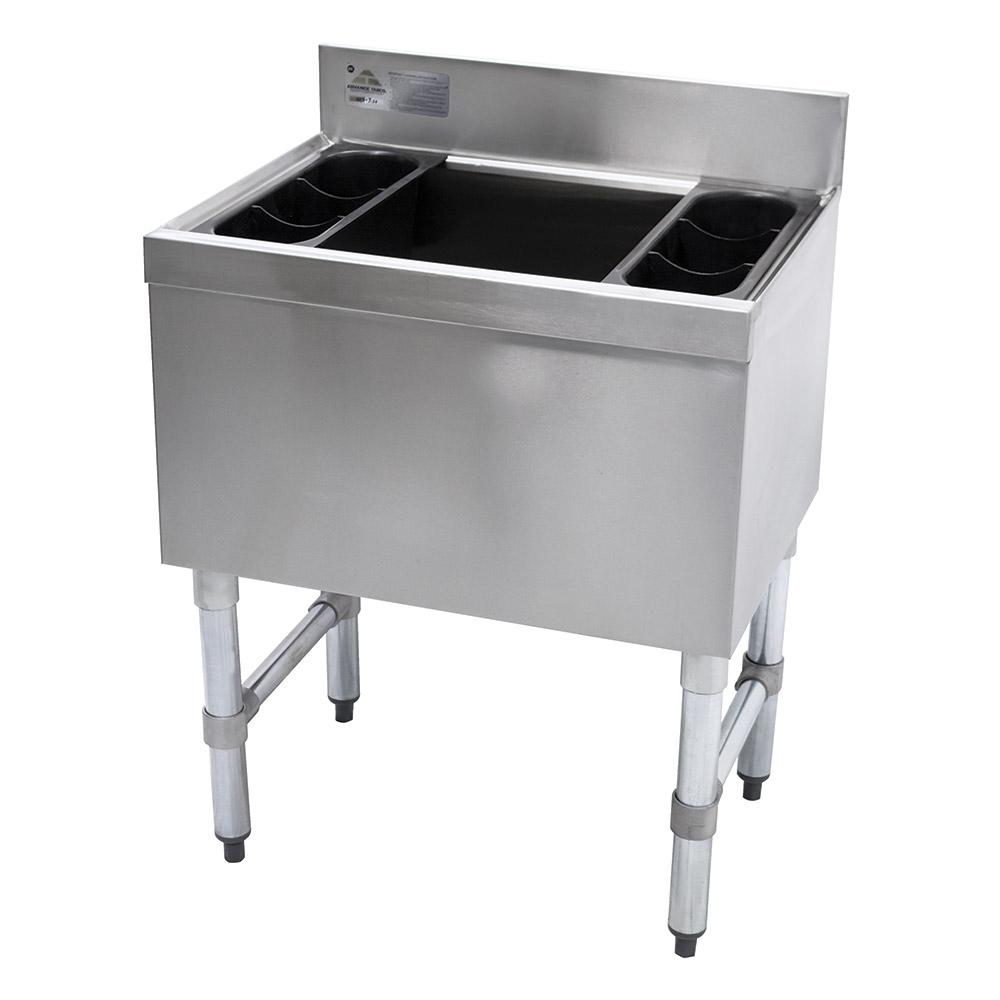 Supreme Metal SLI-12-24-7 24-in Cocktail Unit w/ 100-lb Capacity Ice Bin, 18-in Front-Back
