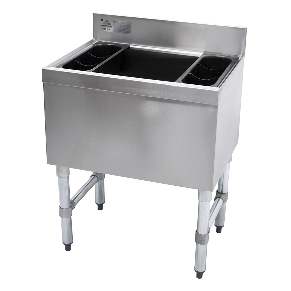 Supreme Metal SLI-12-36-7 36-in Cocktail Unit w/ 100-lb Capacity Ice Bin, 18-in Front-Back