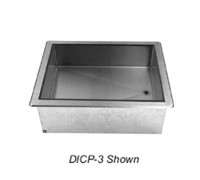 Supreme Metal DICP-4 62-3/8-in Drop-In Cold Food Well Unit, Ice Cooled, 4-Pan