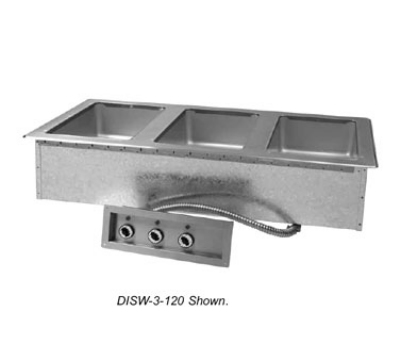 Supreme Metal DISW-3-208/240-M 47-1/8-in Drop-In Hot Food 3-Well Unit, Infinite, Manif
