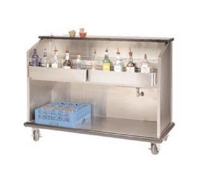Supreme Metal AMS-5B-7 60-in Portable Bar w/ Open Storage, Workboard & Ice Bin