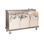 Supreme Metal AMS-6B 72-in Portable Bar w/ Open Storage, Workboard & Ice Bin