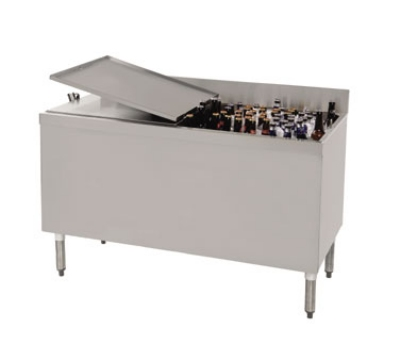 "Supreme Metal CRBB-60 60"" Ice Well 432-Capacity Bottle Cooler - Stainless"