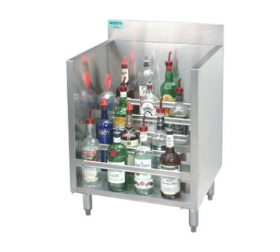 Supreme Metal CRLR-18 18-in Liquor Display Rack w/ 5-Bottle Capacity Per 5-Tiered Steps