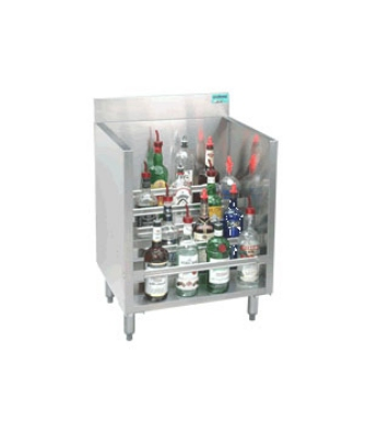Supreme Metal CRLR-24-LC 24-in Liquor Display Rack w/ Locking Cover, 5-Bottles Per Tiered Step