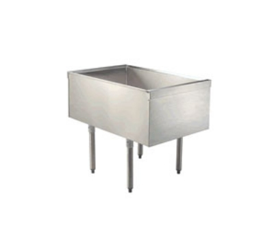 Supreme Metal CRPT-2436 36-in Pass-Thru Ice Bin w/ 12-in Chest, 210-lb Ice