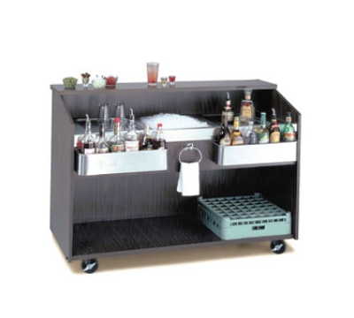 Supreme Metal D-B-7 Portable Bar w/ Ice Bin & Coldplate, Black Finish