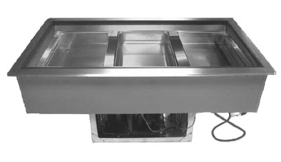 Supreme Metal DIRCP-3 47-in Drop-In Cold Food Well Unit, Refrigerated, 3-Pan