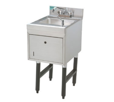 Supreme Metal SC-15-TS-L 12-in Free Standing Hand Sink Unit w/ Soap & Towel Dispenser, Faucet