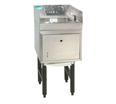 Supreme Metal SC-15-TS-S 15-in Modular Workboard Hand Sink Unit w/ Soap & Towel Dispenser