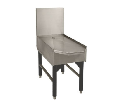 Supreme Metal SCFD-18 18-in Slimline Frozen Drink Machine Stand w/ Beveled Front, Holds 1-Unit