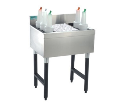 Supreme Metal SLI-12-12 12-in Slimline Cocktail Unit w/ 12-in Chest, 35-lb Ice
