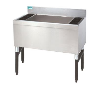 Supreme Metal SLI-12-36-X 36-in Slimline Cocktail Unit w/ 12-in Chest, 210-lb Ice