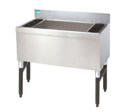 Supreme Metal SLI-12-24 24-in Slimline Cocktail Unit w/ 12-in Chest, 100-lb Ice