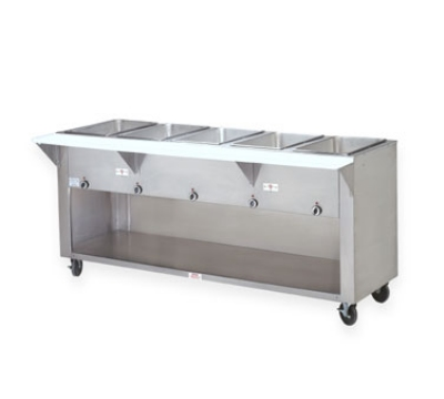 Supreme Metal SW-4E-208/240BST Hot Food Table w/ 4-Wells, Thermostatic, Enclosed Base, 208/240 V
