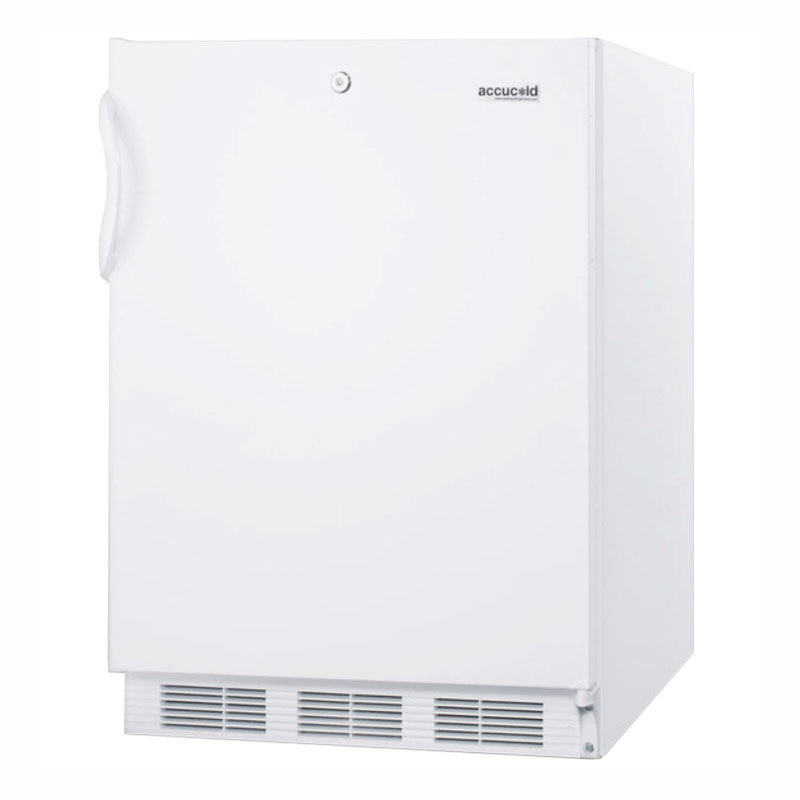 Summit Refrigeration AL650L Refrigerator w/ Freezer, Front Lock, White, ADA, 5.3-cu ft