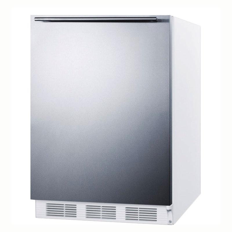 Summit Refrigeration AL650SSHH Undercounter Refrigerator Freezer w/ Reversible Door, Cycle Defrost, White, 5.3-cu ft, ADA