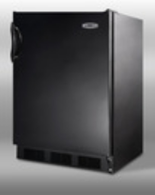 Summit Refrigeration AL652B Undercounter Refrigerator Freezer w/ Single Section & Cycle Defrost, Black, 5.3-cu ft, ADA