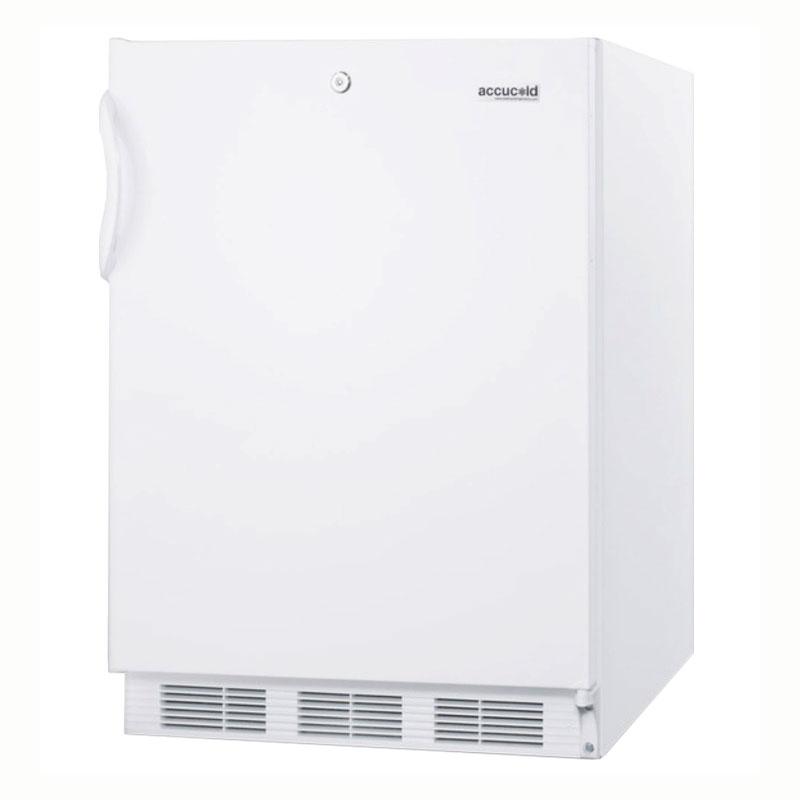 Summit Refrigeration AL750L Undercounter Refrigerator w/ Front Mount Lock, Auto Defrost, White, 5.5-cu ft, ADA