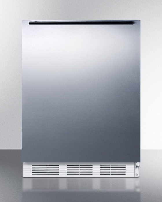 Summit Refrigeration AL750SSHH Undercounter Refrigerator w/ Horizontal Towel Bar & Auto Defrost, White, 5.5-cu ft, ADA