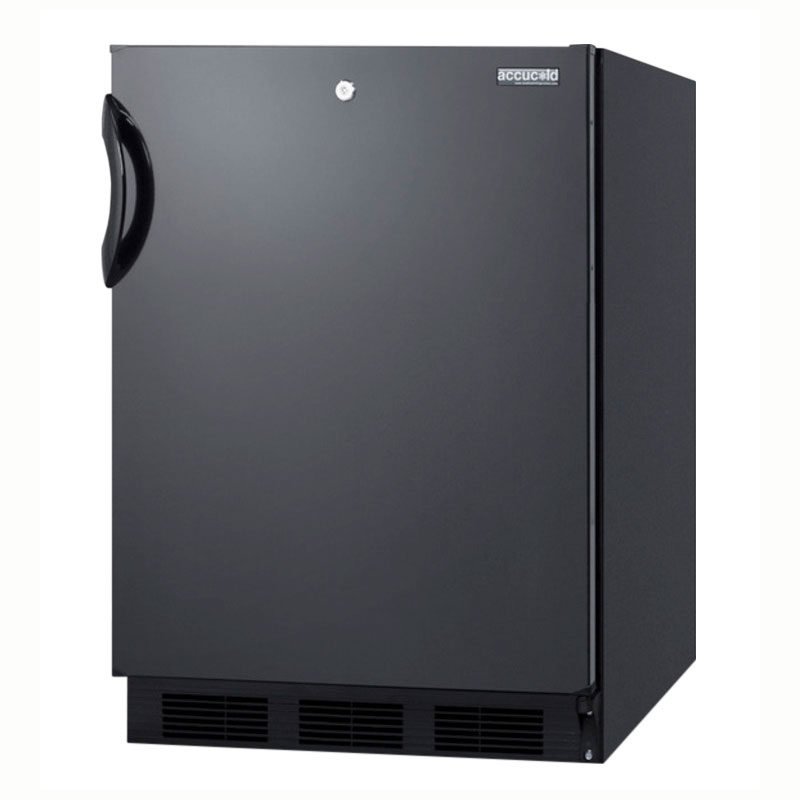 Summit Refrigeration AL752LBL Undercounter Refrigerator w/ 1-Section, Front Lock & Auto Defrost, Black, 5.5-cu ft, ADA