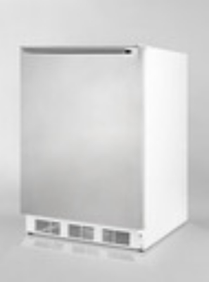 Summit Refrigeration ALB751SSHH Undercounter Refrigerator w/ Horizontal Handle & Auto Defrost, White, 5.5-cu ft, ADA
