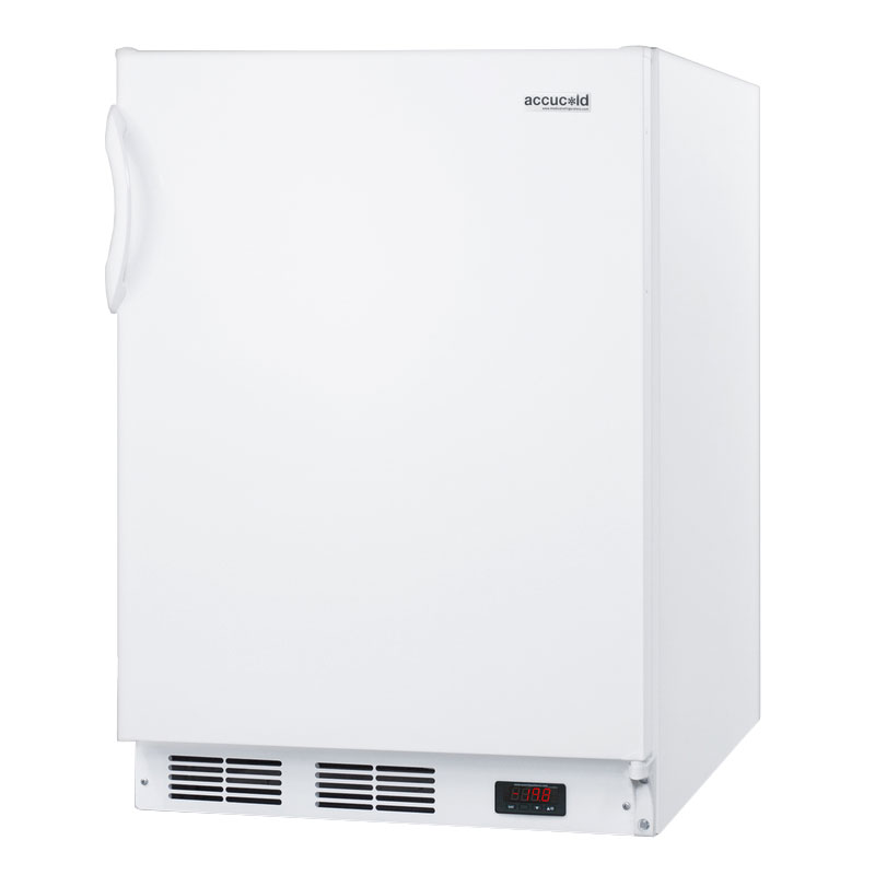 Summit Refrigeration ALF620 Undercounter Freezer w/ 1-Section, Door Storage & Manual Defrost, White, 4-cu ft, ADA