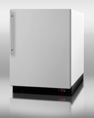 Summit Refrigeration BI605FFSSVH Undercounter Refrigerator Freezer w/ Auto Defrost & Bottom Condenser, White, 6.1-cu ft
