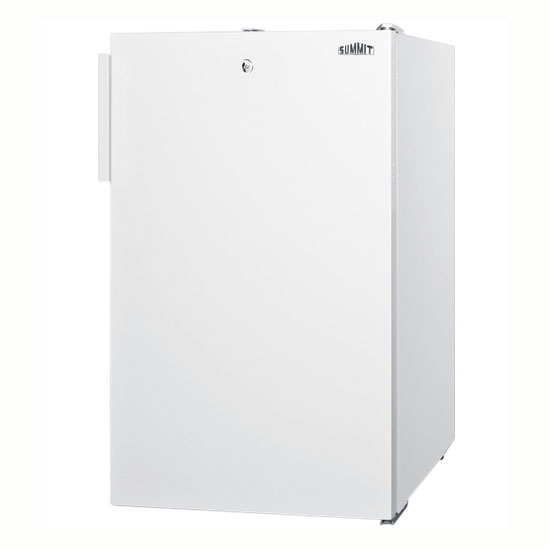 Summit Refrigeration CM411LBI 20-in Refrigerator Freezer w/ Manual Defrost & Keyed Lock, White, 4.1-cu ft