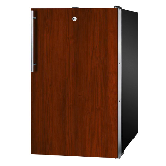 Summit Refrigeration CM421BLBIIF 20-in Refrigerator Freezer w/ Keyed Lock & Manual Defrost, Jet Black, 4.1-cu ft, ADA