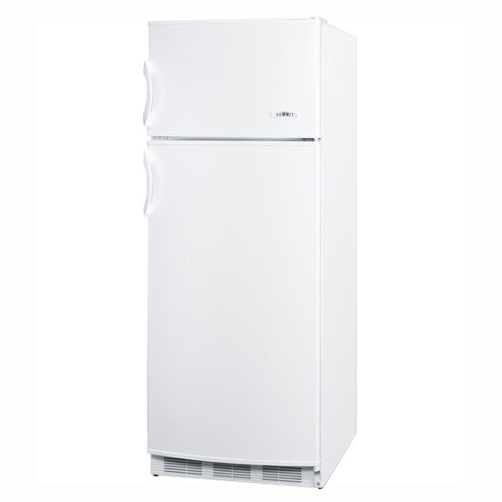 Summit Refrigeration CP133 24-in Refrigerator Freezer w/ Cycle Defrost & 2-Reversible Doors, White, 9.5-cu ft