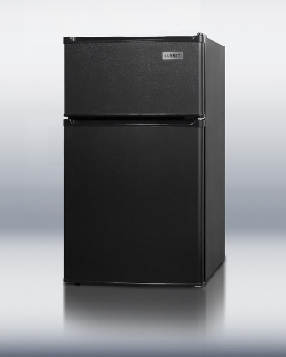 Summit Refrigeration CP35BADA ADA Compliant Energy Star Two Door Refrigerator-Freezer Cycle Defrost Black Restaurant Supply