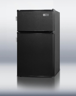 Summit Refrigeration CP35BLL Compact Refrigerator Freezer w/ 2-Door, 2-Side Locks & Cycle Defrost, Black, 2.9-cu ft