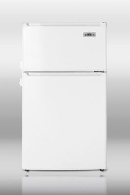Summit Refrigeration CP35LL Compact Refrigerator Freezer - 2-Door, 2-Side Locks, Cycle Defrost, White, 2.9-cu ft