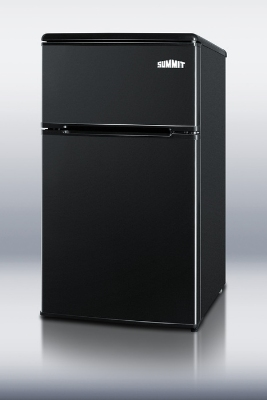 Summit Refrigeration CP36BK Freestanding Compact Refrigerator Freezer w/ 2-Door & Cycle Defrost, Jet Black, 3.1-cu ft