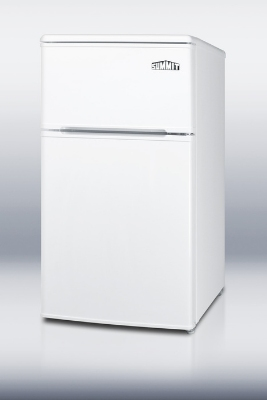 Summit Refrigeration CP36WH Compact Refrigerator Freezer w/ 2-Door, Interior Light & Cycle Defrost, White, 3-cu ft