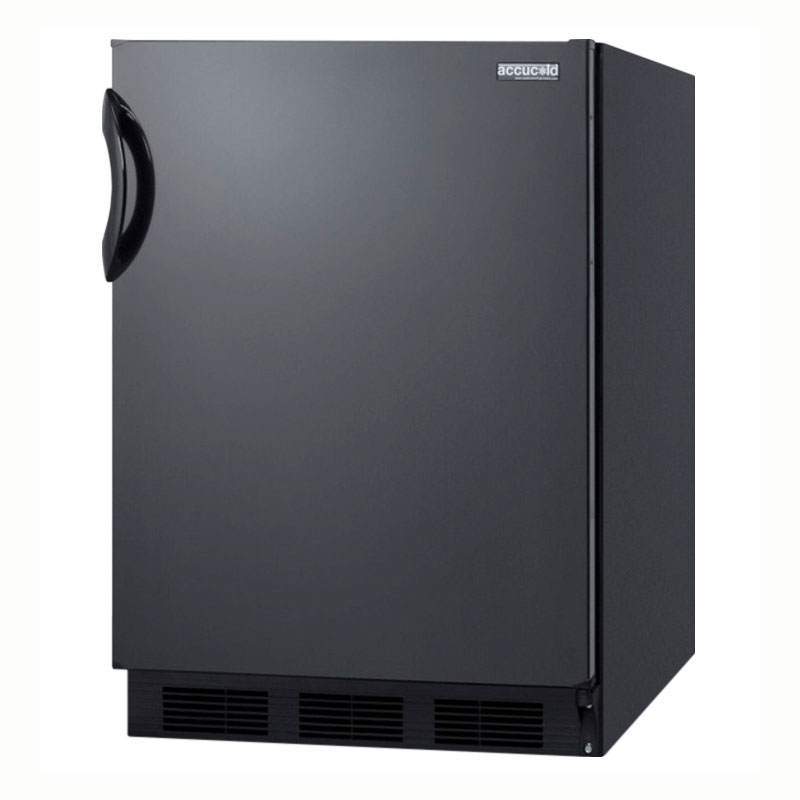 Summit Refrigeration CT66B Freestanding Refrigerator Freezer w/ Cycle Defrost & Door Storage, Black, 5.1-cu ft