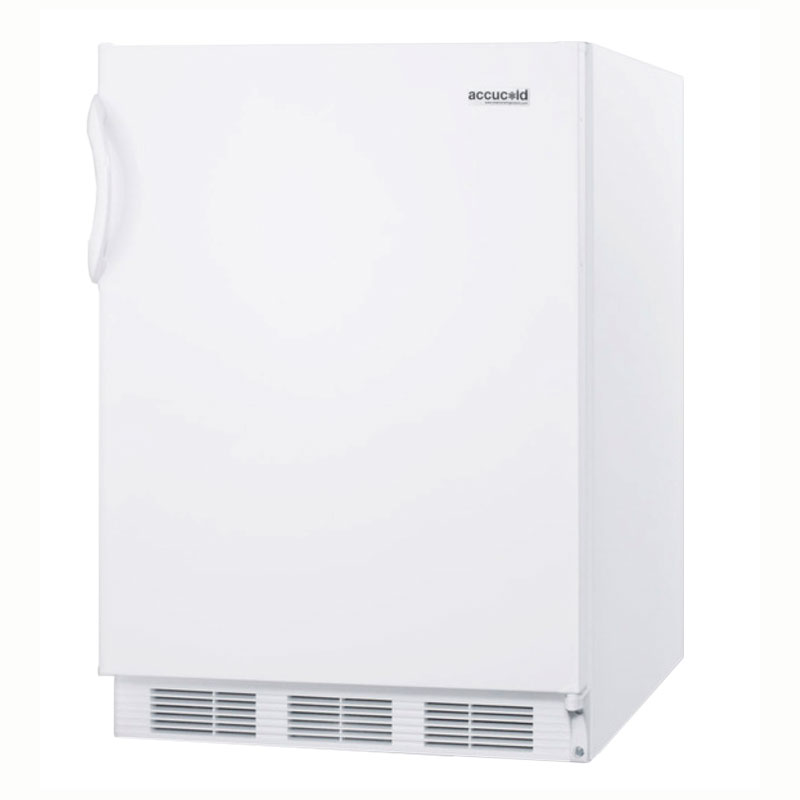 Summit Refrigeration CT66J 24-in Undercounter Refrigerator Freezer w/ Dual Evaporator, 5-cu ft, White
