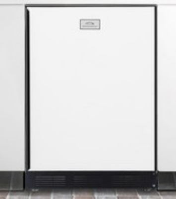 Summit Refrigeration CT67BI Undercounter Refrigerator Freezer w/ 1-Section & Cycle Defrost, White/Black, 5.3-cu ft