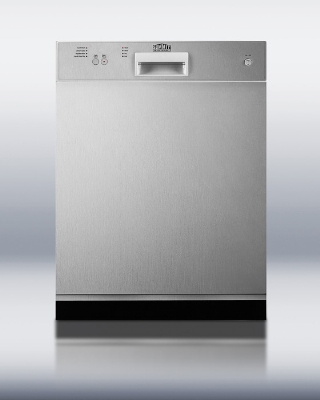 Summit Refrigeration DW2432SS Energy Star Qualified Dishwasher 23.63 in Wide Stainless Steel 110 V Restaurant Supply