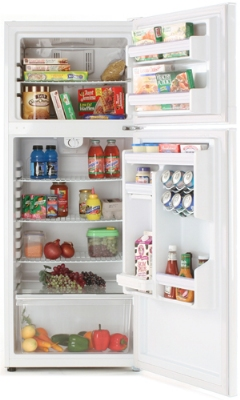 Summit Refrigeration FF1074 Refrigerator Freezer w/ Frost Free Operation & Gallon Door Storage, White, 10-cu ft