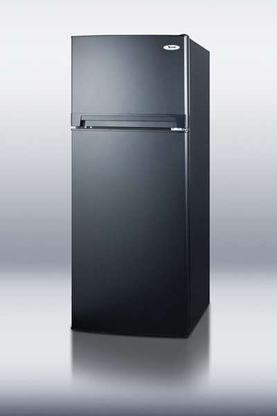 Summit Refrigeration FF1074BLIM 24-in Frost Free Refrigerator Freezer w/ Ice Maker, 10.3-cu ft, Black