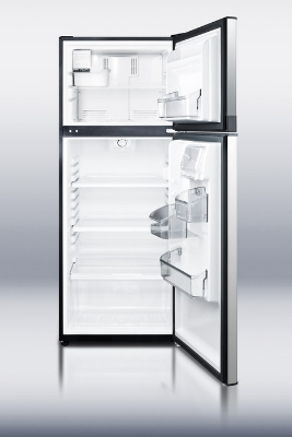 Summit Refrigeration FF1074SSIM Slim Width Refrigerator Freezer w/ Ice Maker, Frost Free, 10-cu ft, Stainless