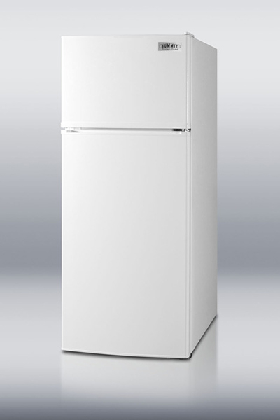 "Summit Refrigeration FF1116W 24"" Refrigerator Freezer Combo - 2-Reversible Doors, 10-cu ft, White"